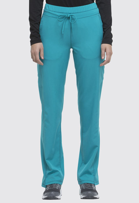 Dickies Dickies Dynamix Mid Rise Straight Leg Drawstring Pant in Teal Blue