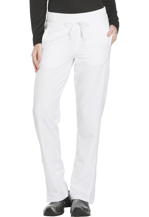 Dickies Dynamix Mid Rise Straight Leg Drawstring Pant in White