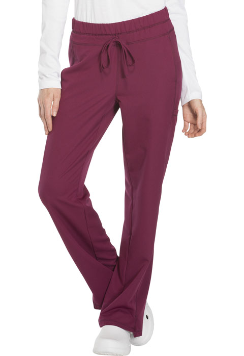 Dickies Dynamix Mid Rise Straight Leg Drawstring Pant in Wine