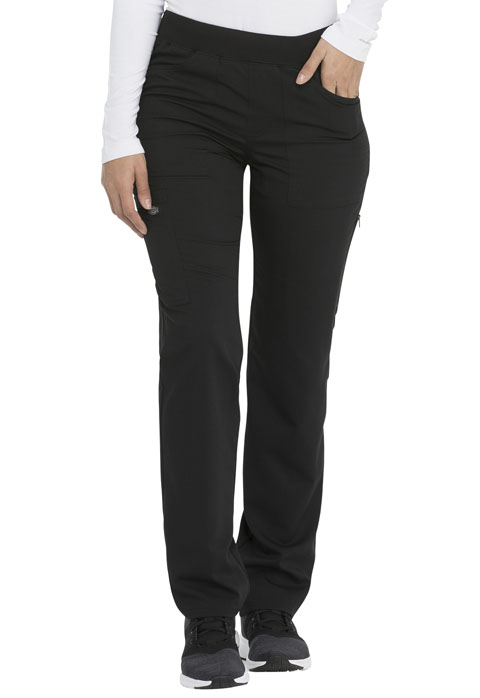 Dickies Dickies Balance Mid Rise Straight Leg Pull-on Pant in Black