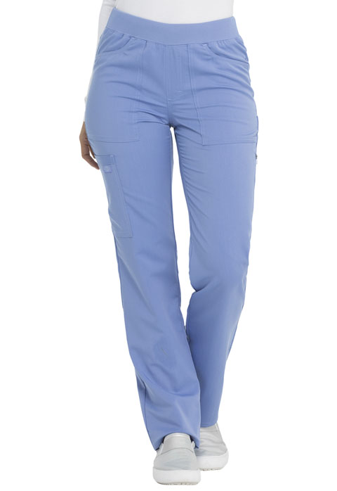 Dickies Dickies Balance Mid Rise Straight Leg Pull-on Pant in Ciel Blue