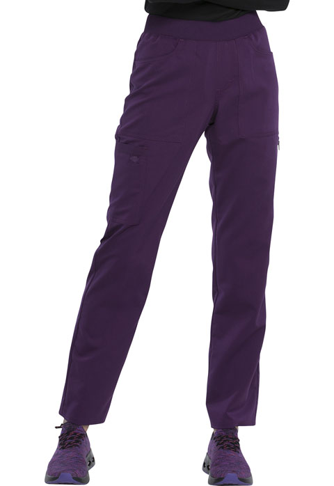 Dickies Dickies Balance Mid Rise Tapered Leg Pull-on Pant in Eggplant