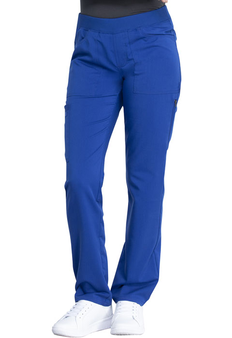 Dickies Dickies Balance Mid Rise Straight Leg Pull-on Pant in Galaxy Blue