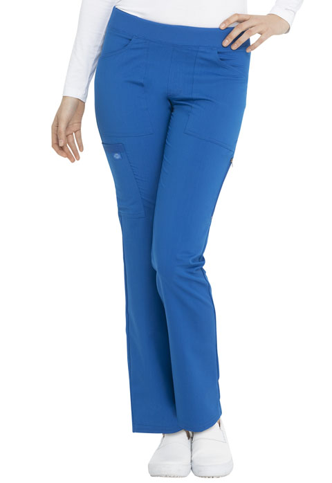 Dickies Balance Women Mid Rise Straight Leg Pull-on Pant Blue