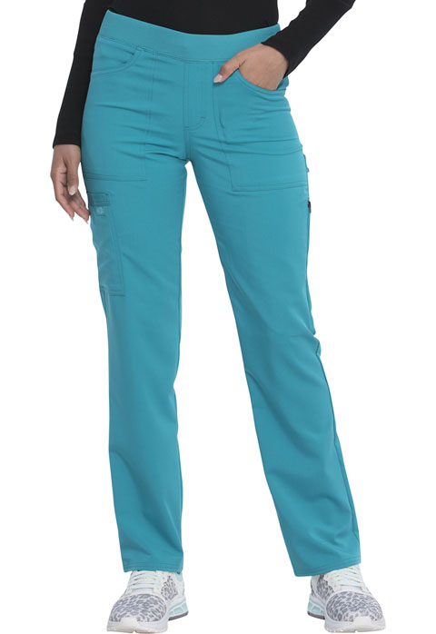 Dickies Dickies Balance Mid Rise Tapered Leg Pull-on Pant in Teal Blue