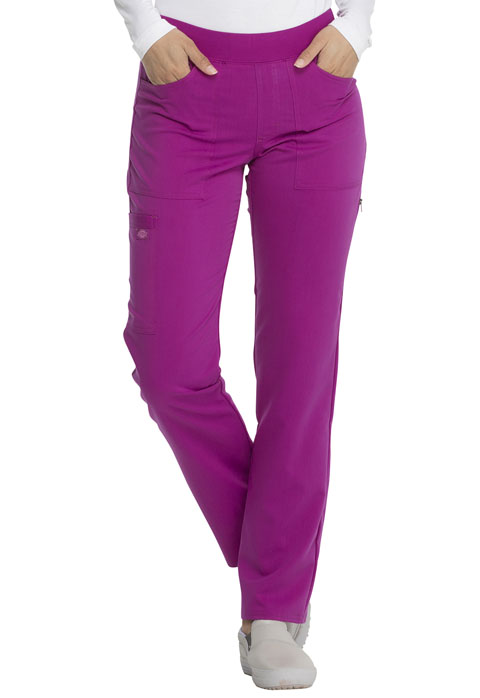 Dickies Dickies Balance Mid Rise Straight Leg Pull-on Pant in Violet Charm