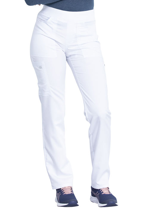 Dickies Dickies Balance Mid Rise Tapered Leg Pull-on Pant in White