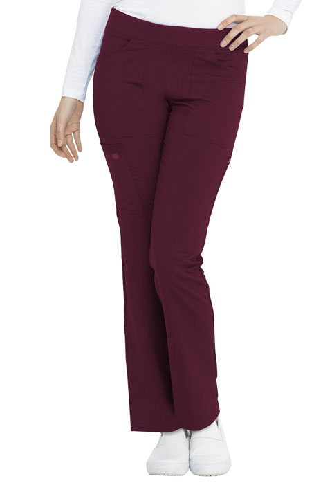 Dickies Dickies Balance Mid Rise Straight Leg Pull-on Pant in Wine