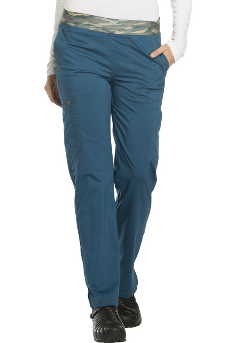 Dickies Essence Mid Rise Tapered Leg Pull-on Pant in Caribbean Blue