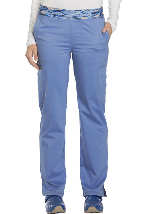 Dickies Essence Mid Rise Tapered Leg Pull-on Pant in Ciel Blue