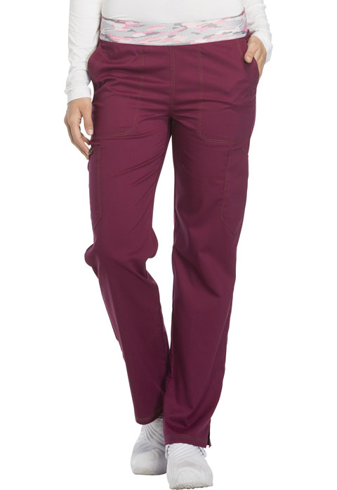 Dickies Essence Mid Rise Tapered Leg Pull-on Pant in Wine