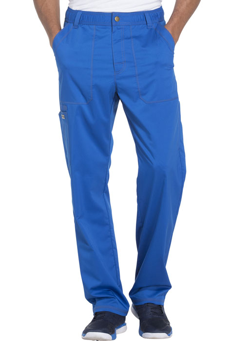 Essence Men Men's Drawstring Zip Fly Pant Blue