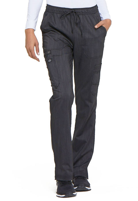 Dickies Advance Mid Rise Boot Cut Drawstring Pant in Onyx Twist