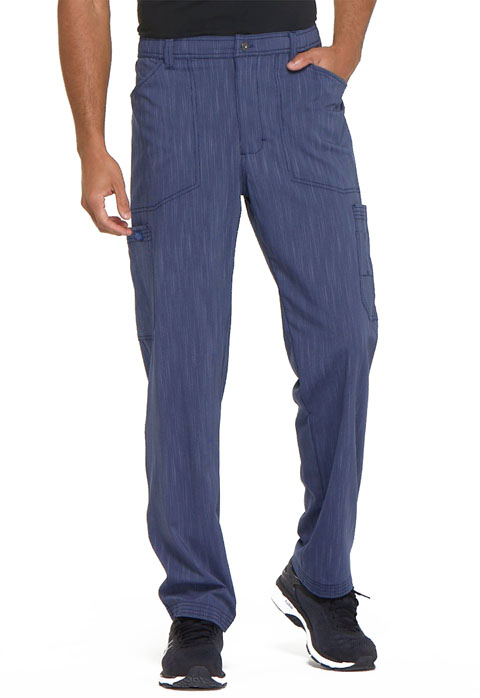 Dickies Advance Men's Natural Rise Straight Leg Pant in D Navy Twist