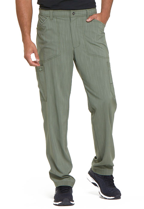 Dickies Advance Men's Natural Rise Straight Leg Pant in Olive Twist