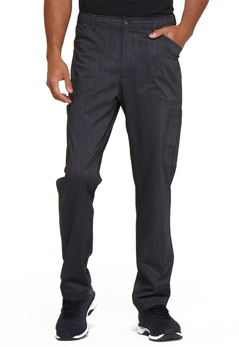 Dickies Advance Men's Natural Rise Straight Leg Pant in Onyx Twist