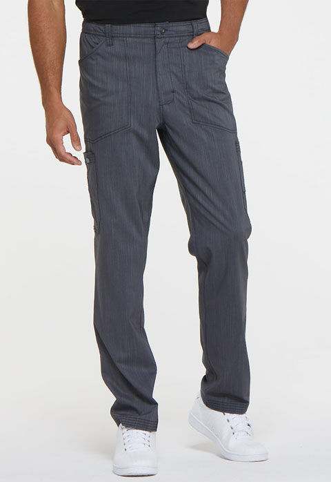 Dickies Advance Men's Natural Rise Straight Leg Pant in Pewter Twist