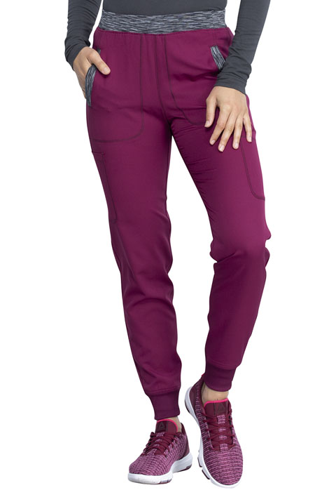 Dickies Dynamix Women Natural Rise Tapered Leg Jogger Pant Red