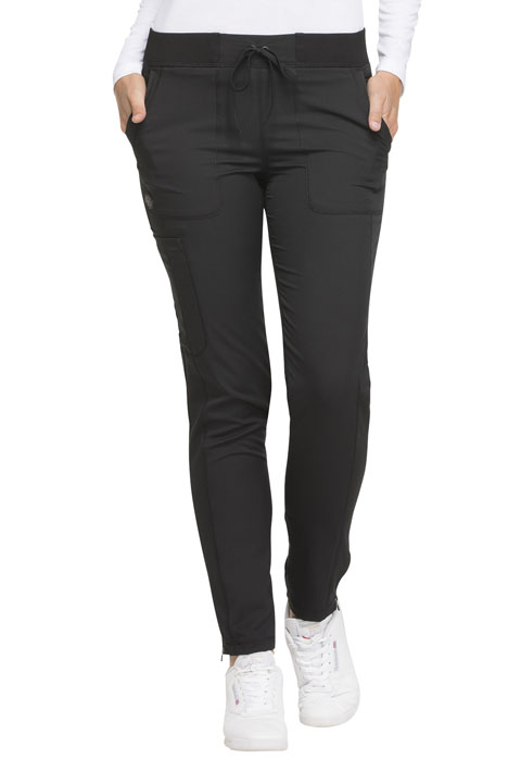 Dickies Dynamix Natural Rise Skinny Drawstring Pant in Black
