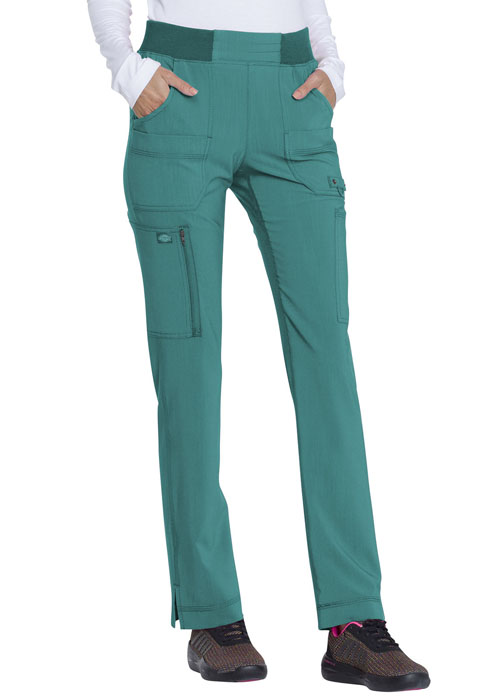 Dickies Advance Mid Rise Tapered Leg Pull-on Pant in Teal Blue