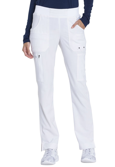 Dickies Advance Mid Rise Tapered Leg Pull-on Pant in White