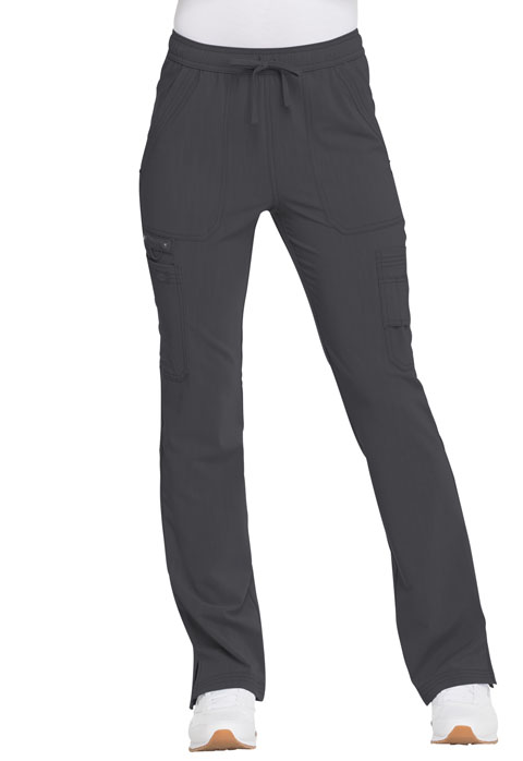 Dickies Advance Mid Rise Boot Cut Drawstring Pant in Pewter