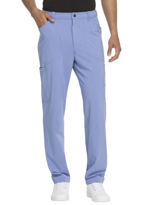 Dickies Advance Men's Straight Leg Zip Fly Cargo Pant in Ciel Blue