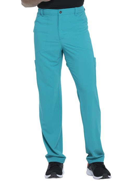 Dickies Advance Men's Straight Leg Zip Fly Cargo Pant in Teal Blue