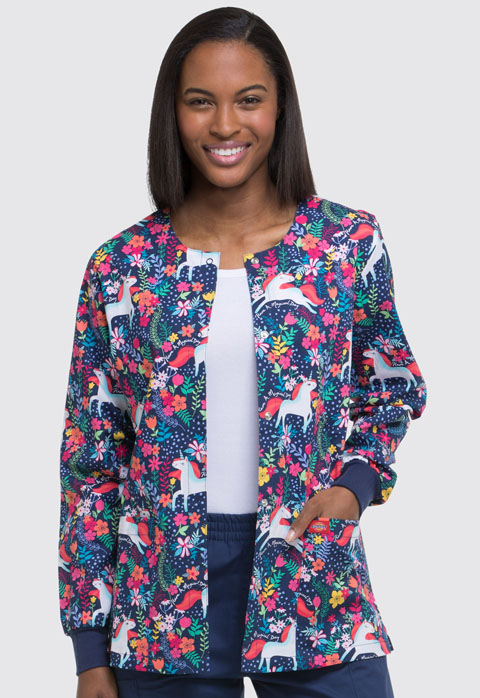 Dickies Dickies Prints Women's Snap Front Warm-Up Jacket Have A Magical Day