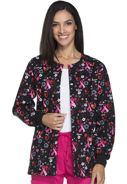 Dickies Dickies Prints Women's Snap Front Warm-Up Jacket Strength From Within