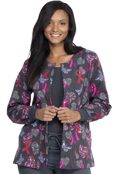 Dickies Dickies Prints Snap Front Warm-Up Jacket in Speck-tacular Love
