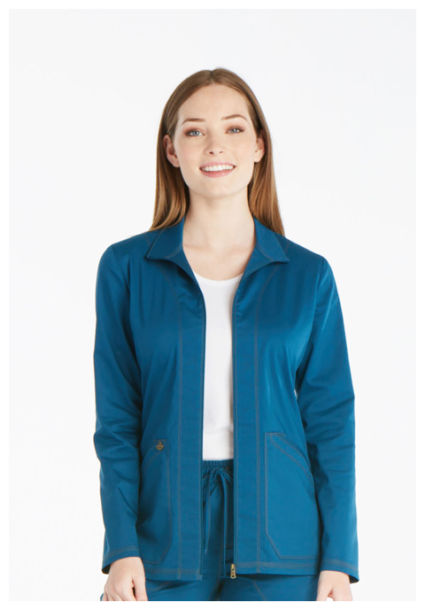 Dickies Essence Warm-up Jacket in Caribbean Blue