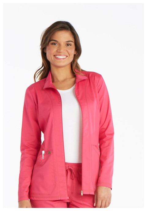 Dickies Essence Warm-up Jacket in Hot Pink
