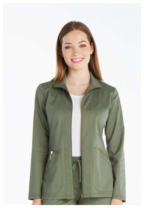 Dickies Essence Warm-up Jacket in Olive