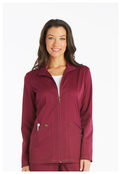 Dickies Essence Warm-up Jacket in Wine