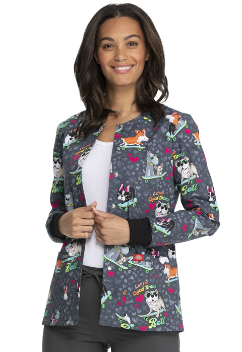 Dickies Dickies Prints Snap Front Warm-Up Jacket in Good Times Roll