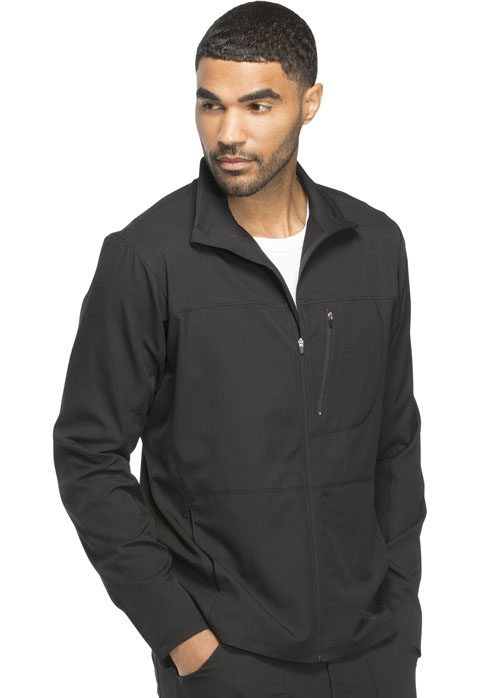 Dickies Dynamix Men's Zip Front Warm-up Jacket in Black