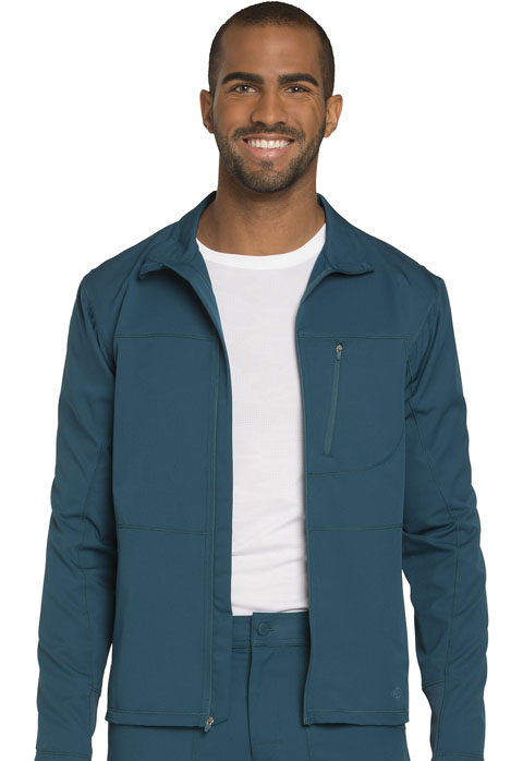 Dickies Dynamix Men's Zip Front Warm-up Jacket in Caribbean Blue