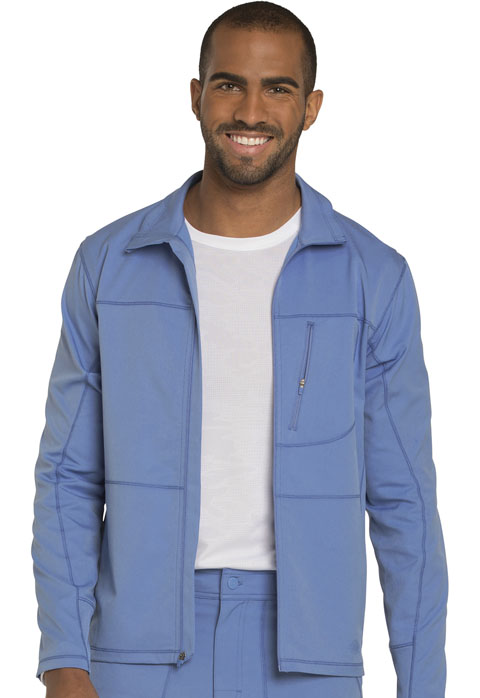 Dickies Dynamix Men's Zip Front Warm-up Jacket in Ciel Blue
