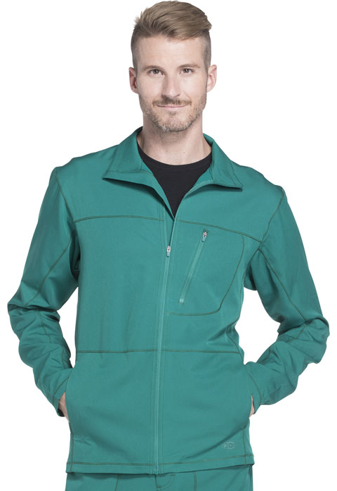 Dickies Dynamix Men's Zip Front Warm-up Jacket in Hunter Green