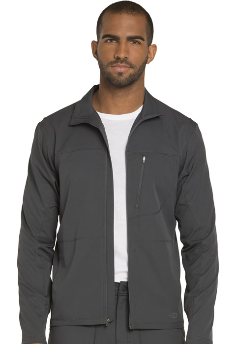 Dickies Dynamix Men's Zip Front Warm-up Jacket in Pewter