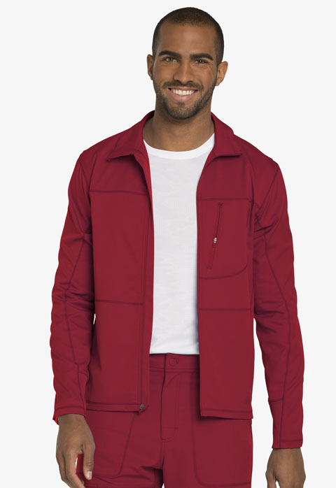 Dickies Dynamix Men's Zip Front Warm-up Jacket in Red