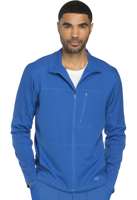 Dickies Dynamix Men's Zip Front Warm-up Jacket in Royal