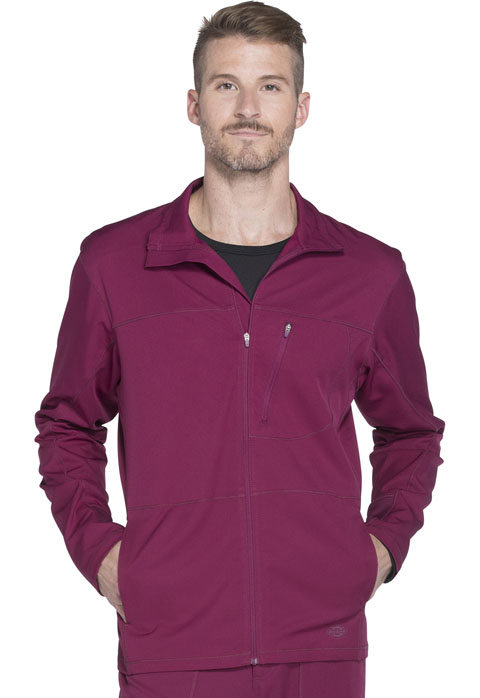 Dickies Dickies Dynamix Men's Zip Front Warm-up Jacket in Wine