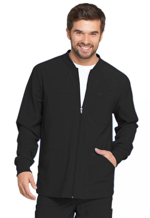 Dickies Every Day EDS Essentials Men's Zip Front Warm-Up Jacket in Black