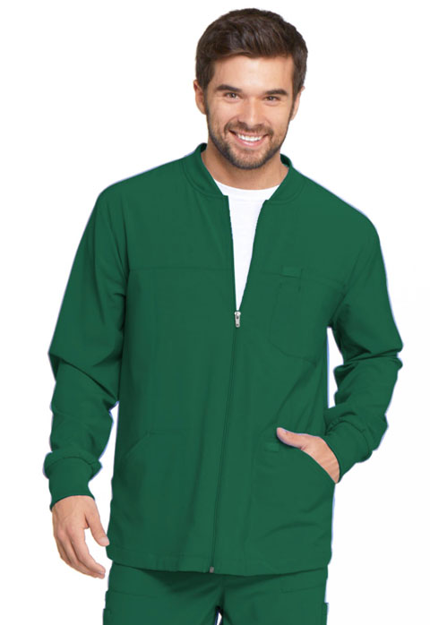 Dickies Every Day EDS Essentials Men's Zip Front Warm-Up Jacket in Hunter Green