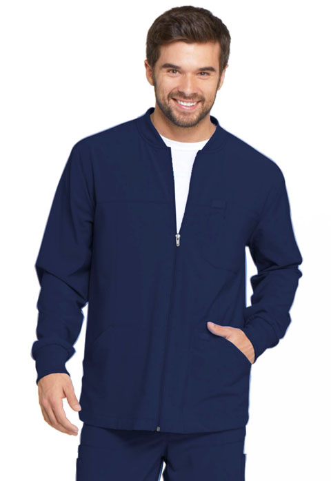 Dickies Every Day EDS Essentials Men's Zip Front Warm-Up Jacket in Navy