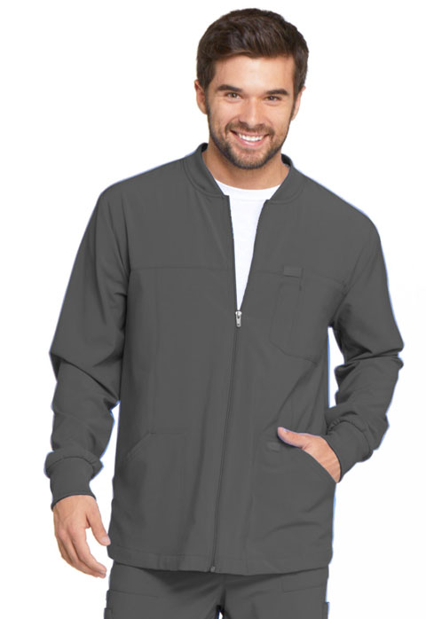 Dickies Every Day EDS Essentials Men's Zip Front Warm-Up Jacket in Pewter