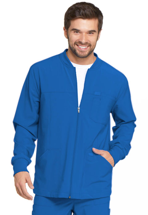 Dickies Every Day EDS Essentials Men's Zip Front Warm-Up Jacket in Royal