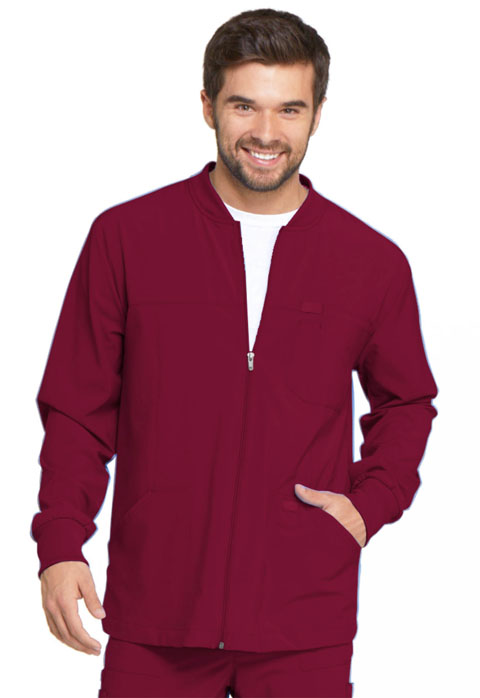 Dickies Every Day EDS Essentials Men's Zip Front Warm-Up Jacket in Wine